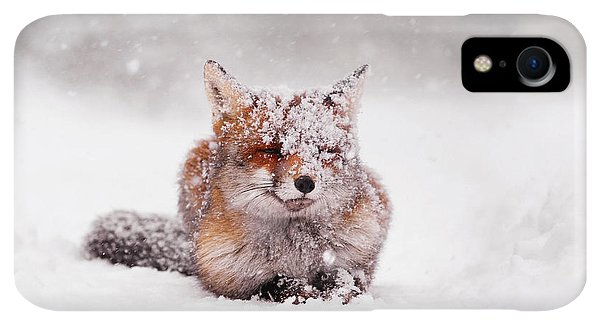 Winter iPhone XR Case - Fairytale Fox II by Roeselien Raimond