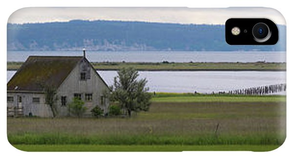 Whidbey iPhone XR Case - Farmhouse In A Field Along Shore by Panoramic Images