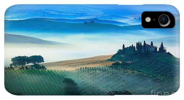 Scenic iPhone XR Case - Fog In Tuscan Valley by Inge Johnsson