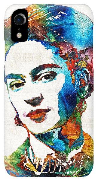 Print iPhone XR Case - Frida Kahlo Art - Viva La Frida - By Sharon Cummings by Sharon Cummings