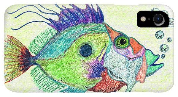 Scuba Diving iPhone XR Case - Funky Fish Art - By Sharon Cummings by Sharon Cummings