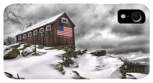 Roxbury iPhone XR Case - Greyledge Farm After The Storm by John Vose