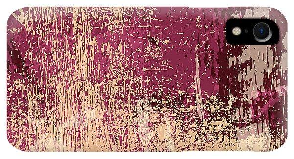 Space iPhone XR Case - Grunge Retro Vintage Paper Texture by Kaidash