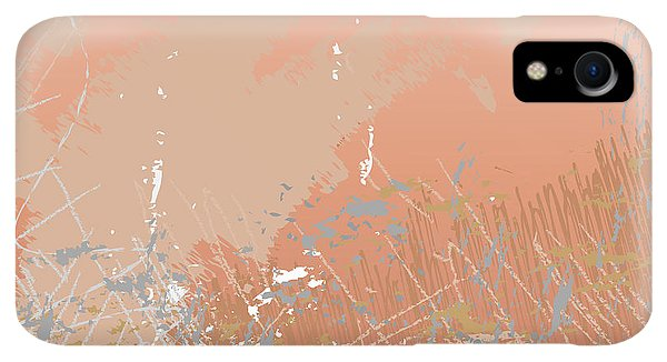 Space iPhone XR Case - Grunge Retro Vintage Paper Texture by Xpixel