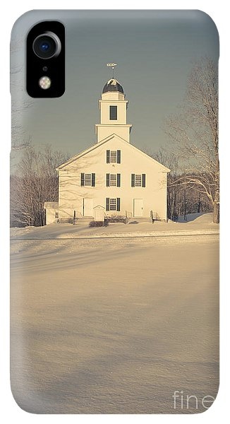 Etna iPhone XR Case - Hanover Center Church Etna New Hampshire by Edward Fielding