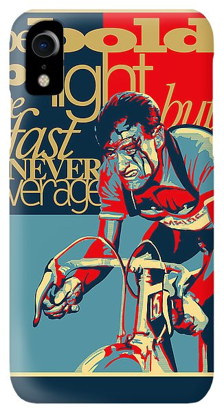 Fairy iPhone XR Case - Hard As Nails Vintage Cycling Poster by Sassan Filsoof