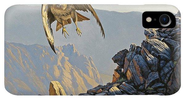 Rocky Mountain iPhone XR Case - Hawk Above Beartooth Pass by Paul Krapf