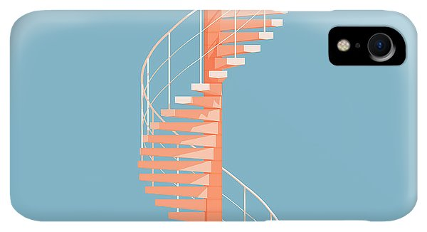 iPhone XR Case - Helical Stairs by Peter Cassidy