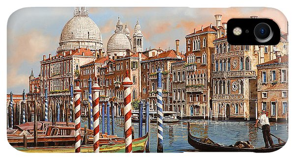 Boats iPhone XR Case - Il Canal Grande by Guido Borelli