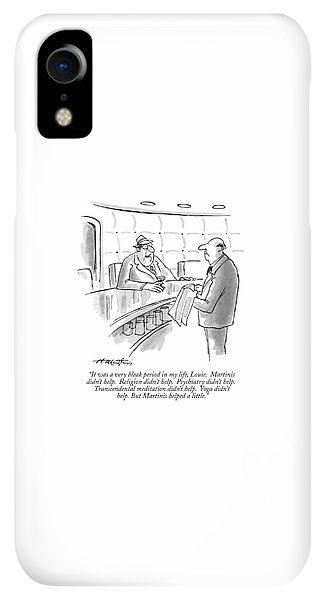 Bar iPhone XR Case - It Was A Very Bleak Period In My Life by Henry Martin