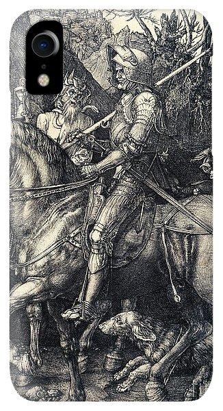 Albrecht Durer iPhone XR Case - Knight Death And The Devil by Albrecht Durer
