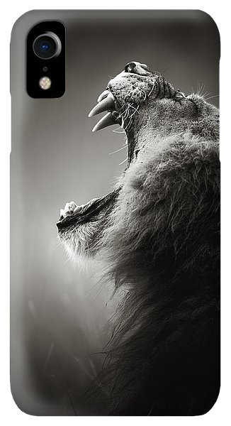 Scenic iPhone XR Case - Lion Displaying Dangerous Teeth by Johan Swanepoel
