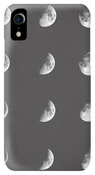 Space iPhone XR Case - Lunar Phases by Zapista Zapista