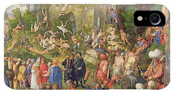 Albrecht Durer iPhone XR Case - Martyrdom Of The Ten Thousand, 1508 by Albrecht Durer or Duerer