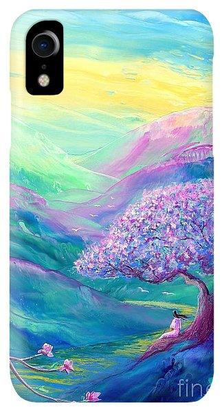 Violet iPhone XR Case - Meditation In Mauve by Jane Small