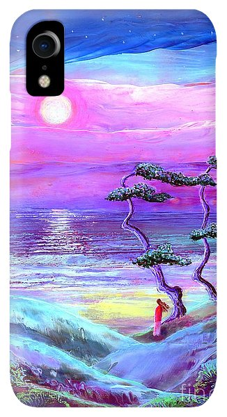 Violet iPhone XR Case - Moon Pathway,seascape by Jane Small