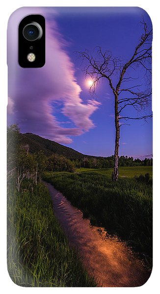 Etna iPhone XR Case - Moonlight Meadow by Chad Dutson