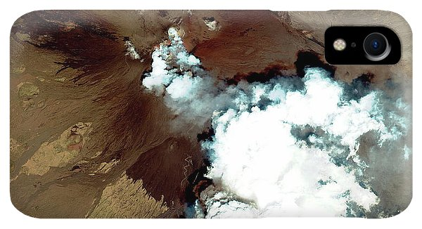 Etna iPhone XR Case - Mount Etna Erupting by Geoeye/science Photo Library