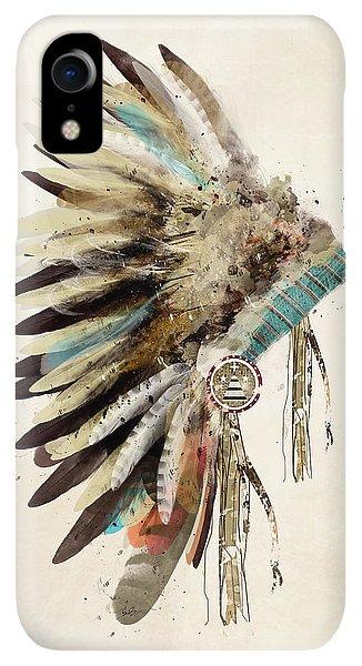 Print iPhone XR Case - Native Headdress by Bri Buckley