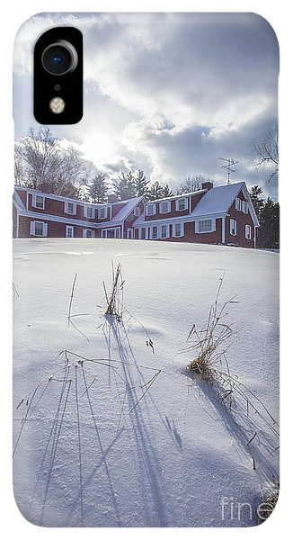 Etna iPhone XR Case - New England Red Farm House Winter by Edward Fielding