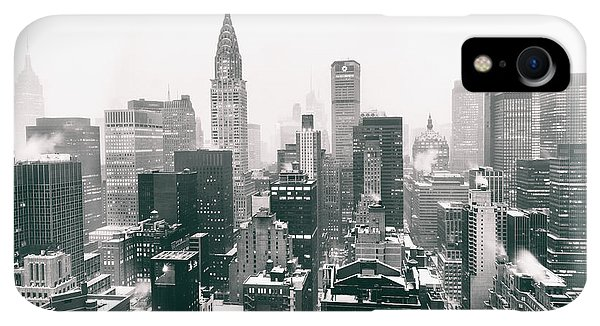 Winter iPhone XR Case - New York City - Snow-covered Skyline by Vivienne Gucwa