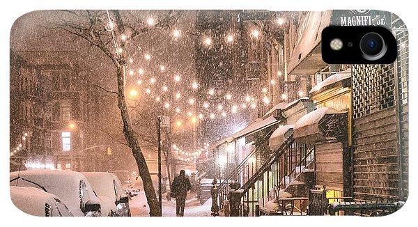 Winter iPhone XR Case - New York City - Winter Snow Scene - East Village by Vivienne Gucwa