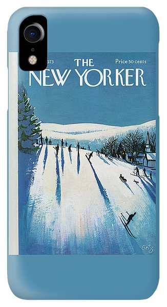 20th iPhone XR Case - New Yorker January 20th, 1973 by Arthur Getz