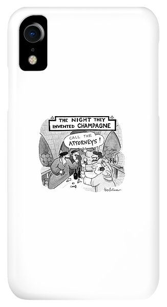 Bar iPhone XR Case - New Yorker January 8th, 1990 by Leo Cullum