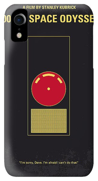 Space iPhone XR Case - No003 My 2001 A Space Odyssey 2000 Minimal Movie Poster by Chungkong Art