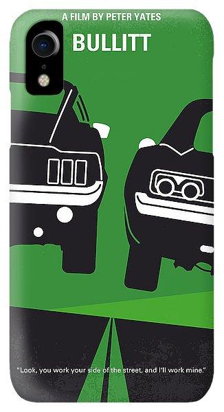 Print iPhone XR Case - No214 My Bullitt Minimal Movie Poster by Chungkong Art