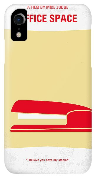 Space iPhone XR Case - No255 My Office Space Minimal Movie Poster by Chungkong Art