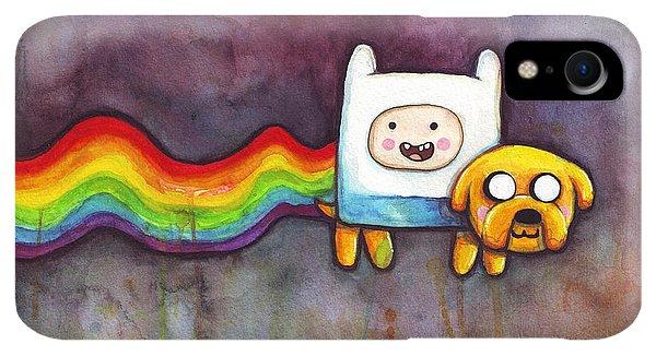 Print iPhone XR Case - Nyan Time by Olga Shvartsur