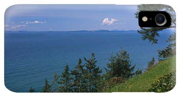Whidbey iPhone XR Case - Old Red Chair Near The Sea, Strait by Panoramic Images
