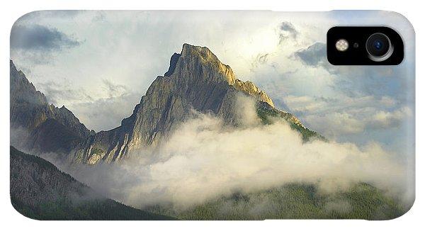 Rocky Mountain iPhone XR Case - Opal Range In Fog Kananaskis Country by Tim Fitzharris