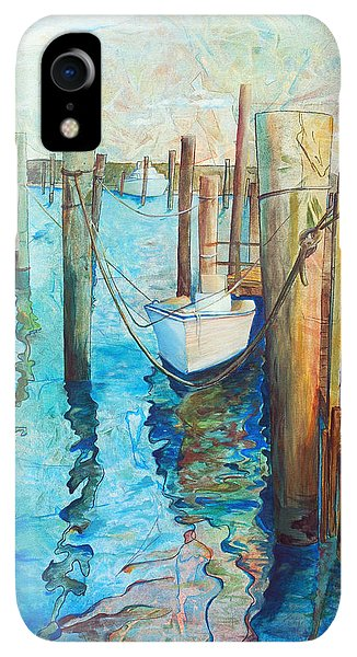 Boats iPhone XR Case - Oregon Inlet by Arlissa Vaughn