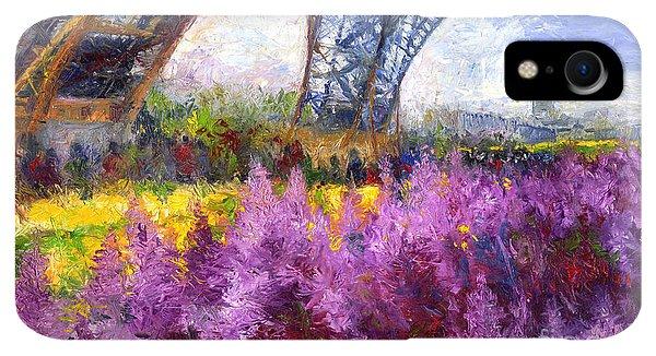 Violet iPhone XR Case - Paris Tour Eiffel 01 by Yuriy Shevchuk