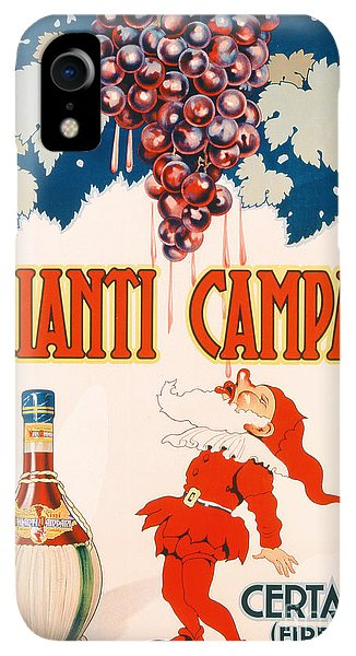 Bar iPhone XR Case - Poster Advertising Chianti Campani by Necchi