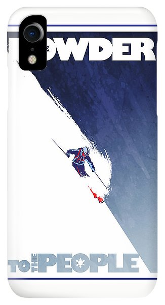 Rocky Mountain iPhone XR Case - Powder To The People by Sassan Filsoof