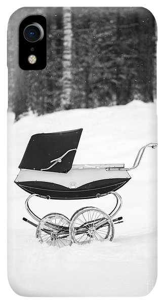 Etna iPhone XR Case - Pram In The Snow by Edward Fielding