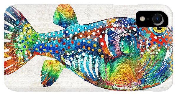 Scuba Diving iPhone XR Case - Puffer Fish Art - Blow Puff - By Sharon Cummings by Sharon Cummings