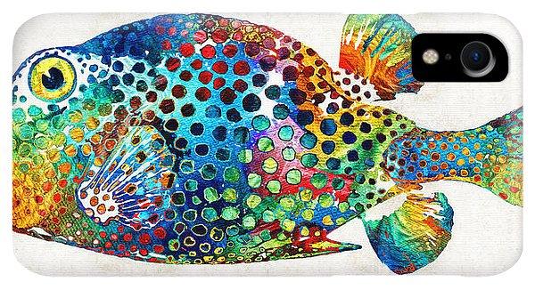 Scuba Diving iPhone XR Case - Puffer Fish Art - Puff Love - By Sharon Cummings by Sharon Cummings