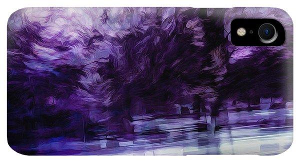 Violet iPhone XR Case - Purple Fire by Scott Norris