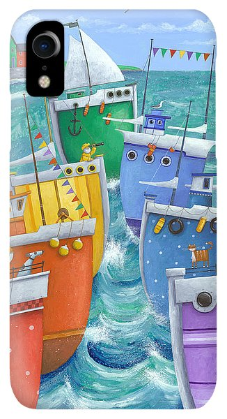 Boats iPhone XR Case - Rainbow Flotilla by MGL Meiklejohn Graphics Licensing