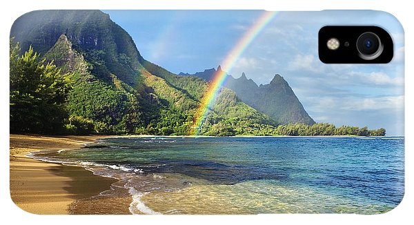 Scenic iPhone XR Case - Rainbow Over Haena Beach by M Swiet Productions