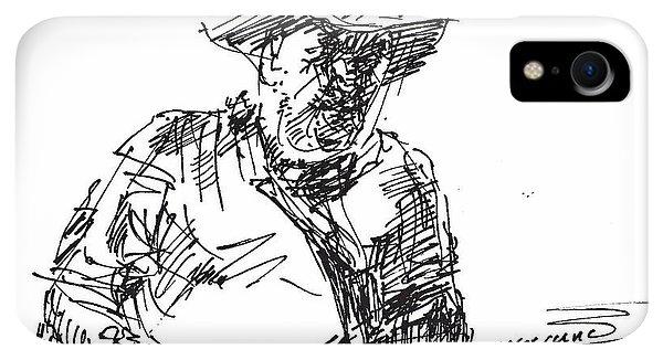 Bar iPhone XR Case - Roger In A Cowboy Hat by Ylli Haruni