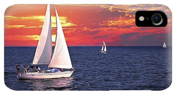 Boats iPhone XR Case - Sailboats At Sunset by Elena Elisseeva