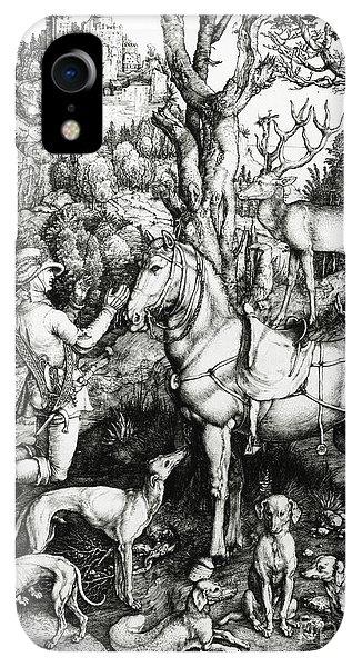 Albrecht Durer iPhone XR Case - Saint Eustace by Albrecht Durer or Duerer