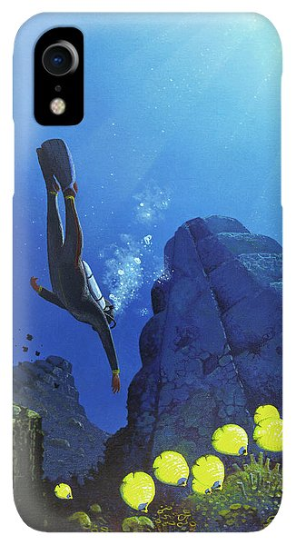 Scuba Diving iPhone XR Case - Scuba Diving by Mark Garlick/science Photo Library
