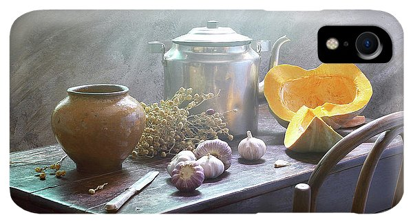 Kettles iPhone XR Case - Still Life With Pumpkin by Ustinagreen