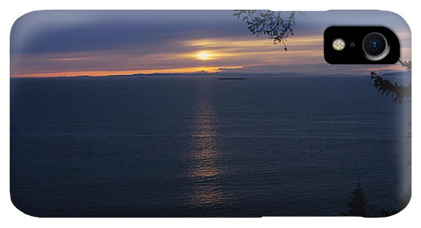 Whidbey iPhone XR Case - Sunset Over The Sea, Strait Of Juan De by Panoramic Images